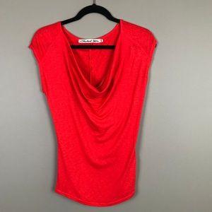 Michael Stars vibrant red/orange slouchy top